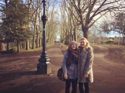 Bethany and her sister Kearney at St George Park in Redfield, Bristol