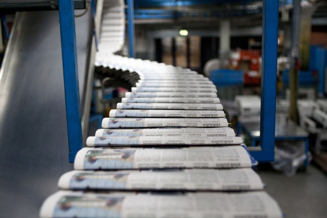 Newspaper press