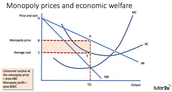 Monopoly Power and Economic Welfare | Economics | tutor2u