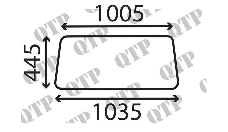 Glass Rear Window Upper Safety Frame Standard & Deluxe Cab