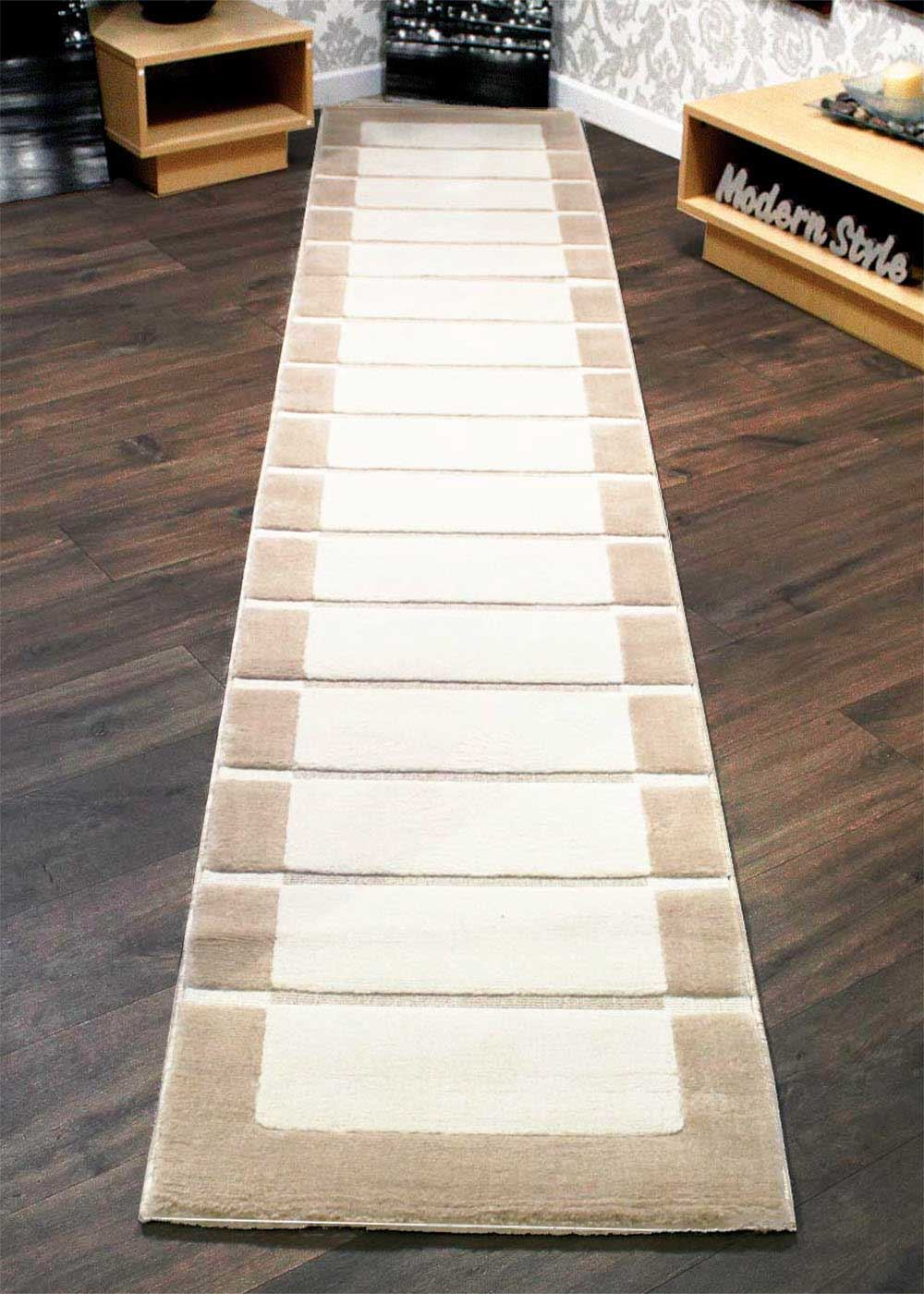RRP Extra Long Thick Hallway Runner Rugs Chocolate Brown Beige Cream  eBay