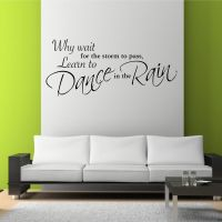 DANCE IN THE RAIN Wall Art Sticker Lounge Quote Decal ...