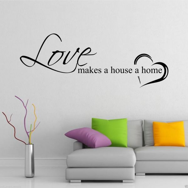 Home Love Family Wall Art Sticker Quote Decal Mural