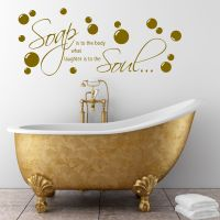 Bathroom Wall quote Soap Body Wall Sticker Decal Transfer ...