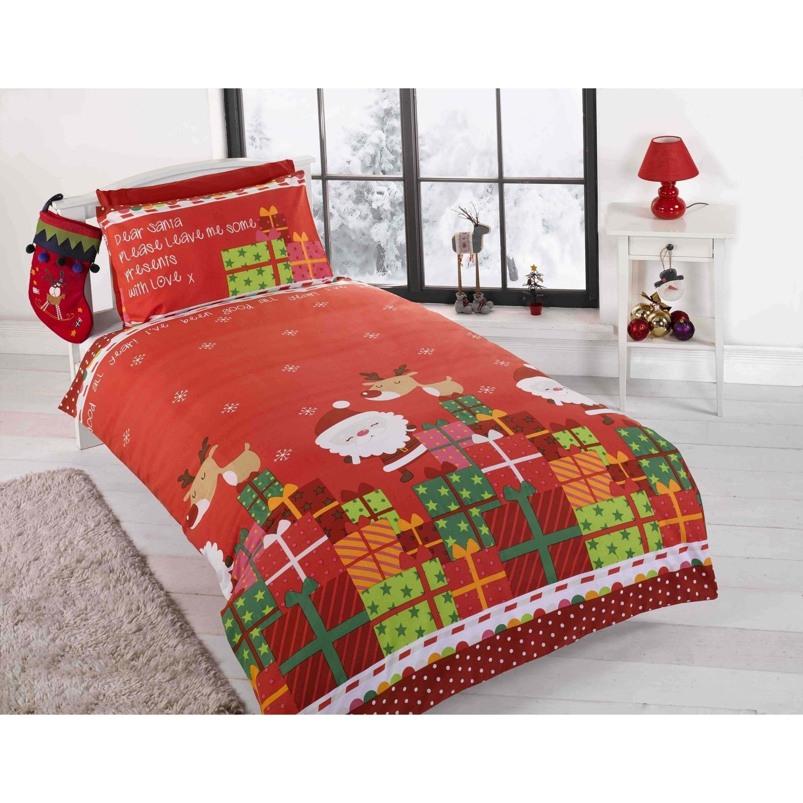 CHRISTMAS DUVET COVER BEDDING SETS  TWIN DOUBLE & JUNIOR