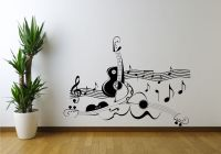 GUITAR MUSIC NOTE SYMBOL VIOLIN WALL ART STICKER DECAL ...