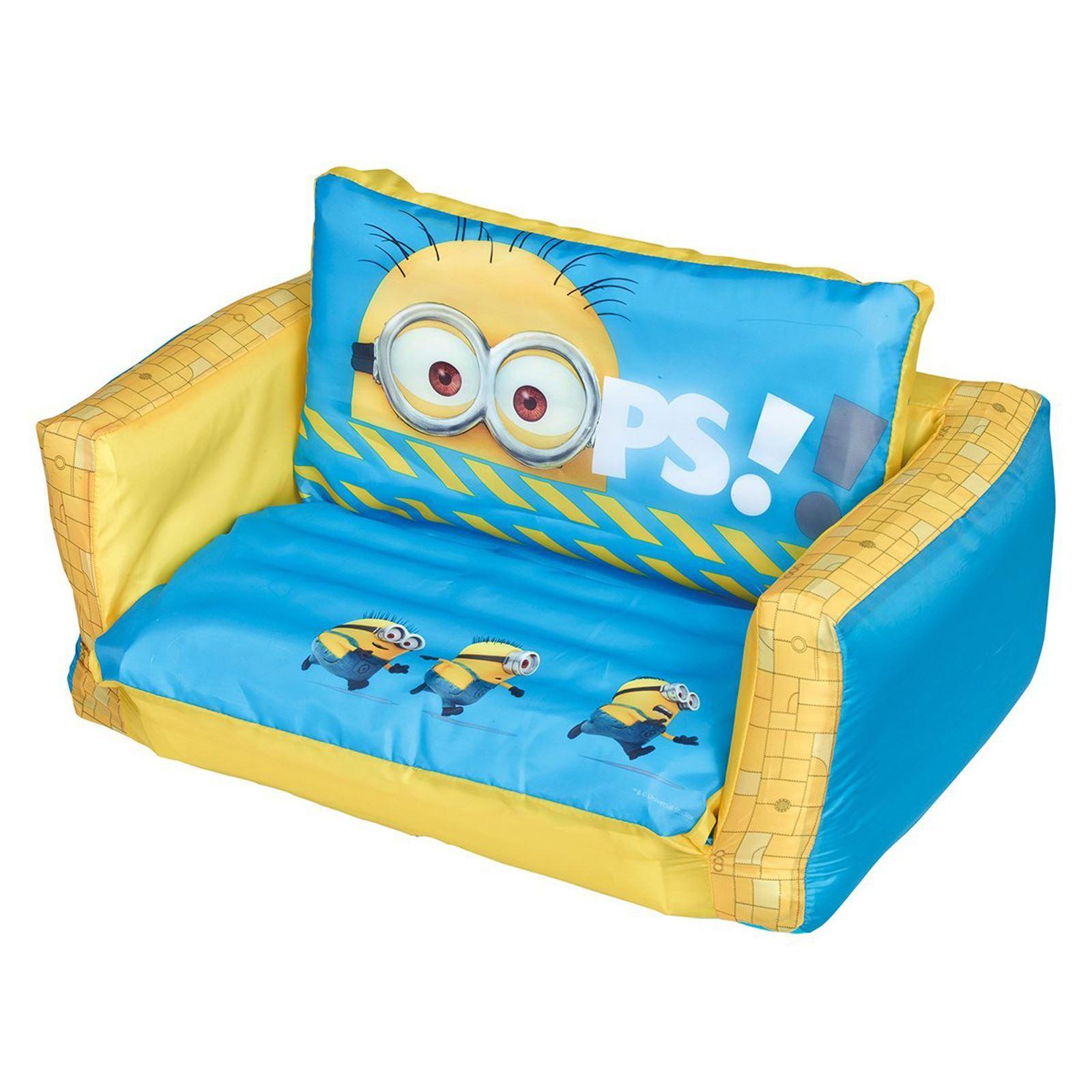 disney cars flip out sofa australia savoy leather costco range inflatable kids room new minions
