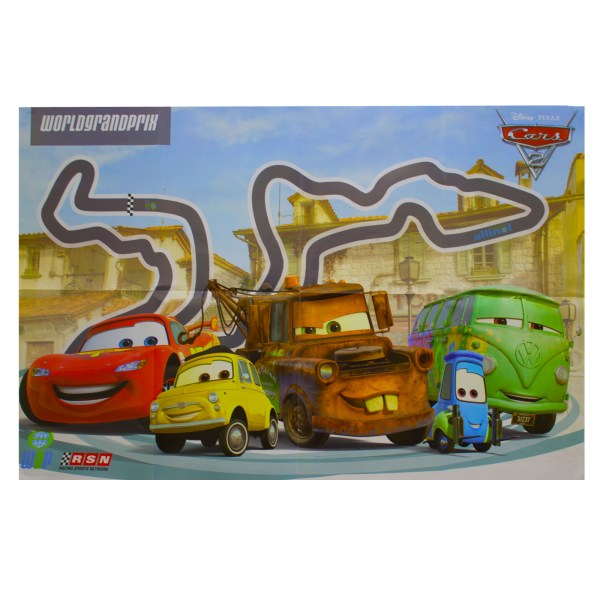 Disney Cars 2 Poster Kids Wall Art Pack Film Characters Racing Lego 8 Design
