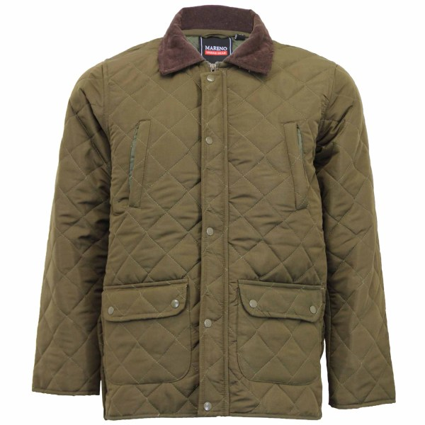 Mens Mareno Jacket Soul Star Coat Padded Quilted Corduroy Brave Winter
