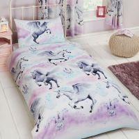 KIDS SINGLE DUVET COVER SETS BOYS GIRLS - UNICORN DINOSAUR ...