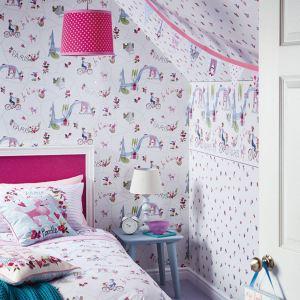 unicorn bedroom glitter themed wall feature paris chic heart stars mermaid accessories diy arthouse duvet cushion