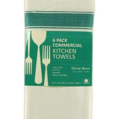 Kitchen Tea Towels Sink Mounting Hardware Pack Of 12 Large 100 Cotton