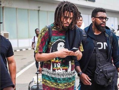 Image result for US rapper J. Cole arrives Nigeria for first-time concert