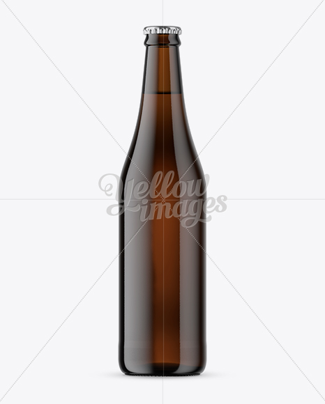 Download Amber Glass Drink Bottle Psd Mockup Yellowimages