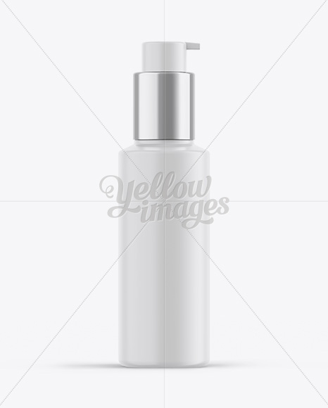 Download Cosmetic Frosted Bottle Psd Mockup Yellow Images