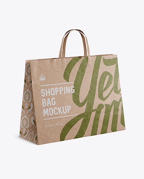 Download Matte Shopping Bag Front View Yellowimages