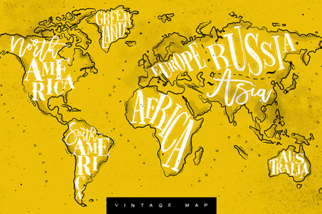 Download World Map Mockup Yellowimages