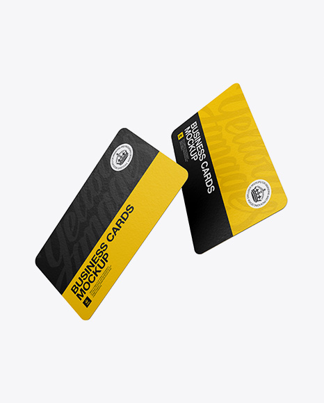 Download Rounded Business Card Mockup Yellowimages