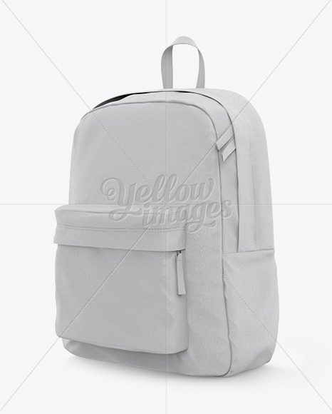 Set of blank drawstring bags mockup 3d realistic vector illustration. Backpack Mockup Half Side View In Apparel Mockups On Yellow Images Object Mockups