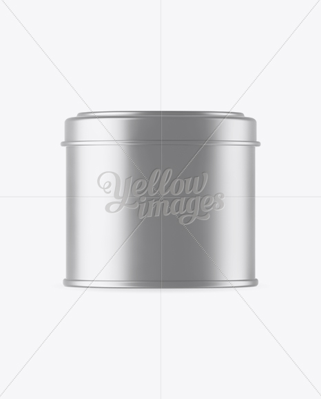 Download 100ml Open Matte Metal Round Tin Box Mockup Front View Yellowimages
