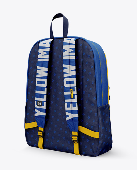 Download Backpack Mockup Half Side View Yellow Images