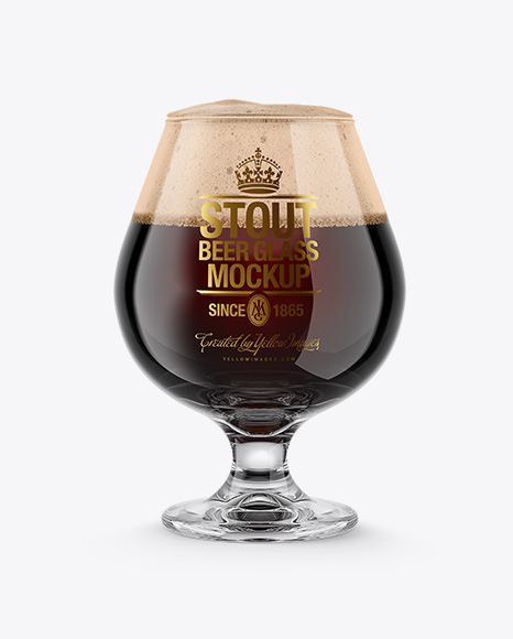 Snifter Glass With Stout Beer Packaging Mockups