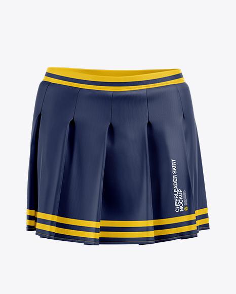 59a68fb7a9f7e Сheerleader Skirt Mockup - Front View templates