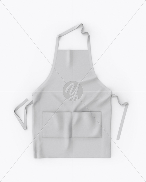 Sample design is not included in the download file. Apron Mockup Top View In Apparel Mockups On Yellow Images Object Mockups