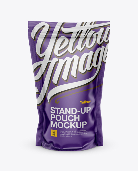 Download Matte Metallic Stand Up Pouch Psd Mockup Yellowimages