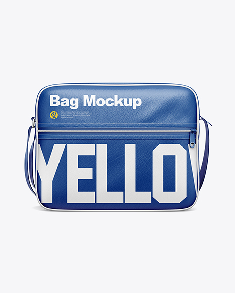 It is simple and puts the focus on the design specifications. Shoulder Bag Mockup Front View In Apparel Mockups On Yellow Images Object Mockups