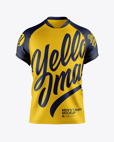 Download Men's Soccer Jersey Mockup in Apparel Mockups on Yellow ...