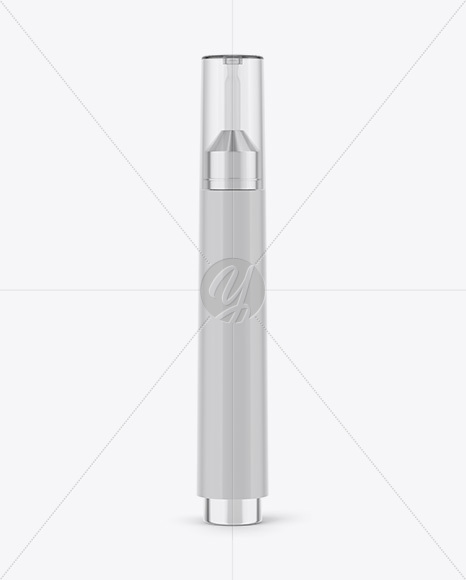 Download 15ml Cosmetic Syringe Bottle Bamboo Body Psd Mockup Yellow Images
