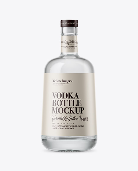 Download Vodka Bottle Psd Mockup Yellowimages