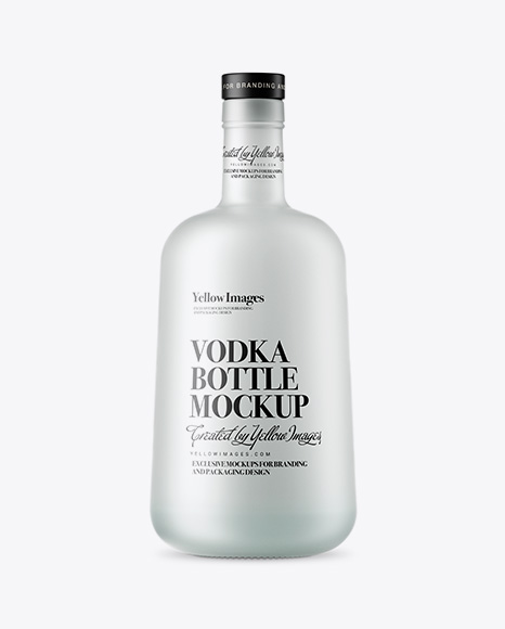 Presentations, online posts and websites, and artwork portfolios. Frosted Glass Vodka Bottle Mockup Psd Template Create Flyer Photoshop