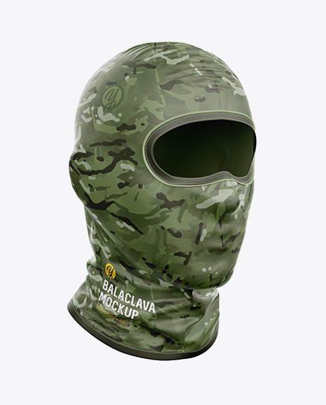 Download Balaclava Mockup Front View Yellow Images