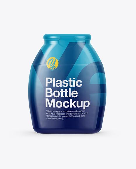 Plastic Bottle in Shrink Sleeve Packaging Mockups