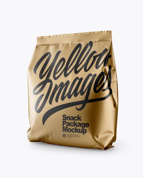 Download Matte Metallic Bag Psd Mockup Half Side View Yellow Images