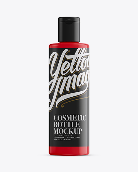 Download Plastic Glossy Bottle Psd Mockup Yellowimages
