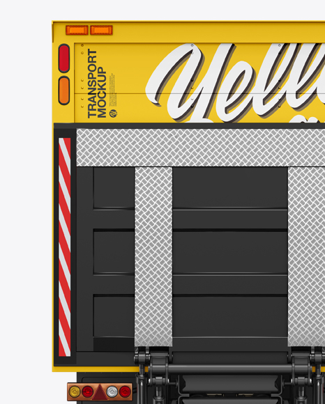 5ac63b9d1d189 Box Truck Mockup - Back View templates
