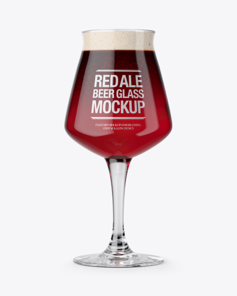 5acb43bd9b294 Teku Glass With Red Ale Beer Mockup templates