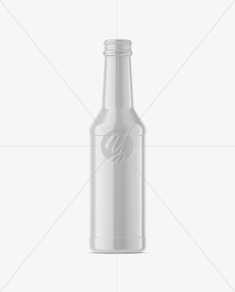 Download Glossy Ceramic Bottle With Wax Psd Mockup Yellow Images