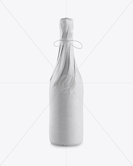 Download Wine Bottle In Kraft Paper Wrap Psd Mockup Yellow Images