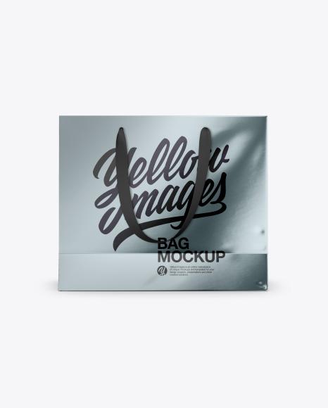 Metallic Bag Handles Mockup - Front & Top Views