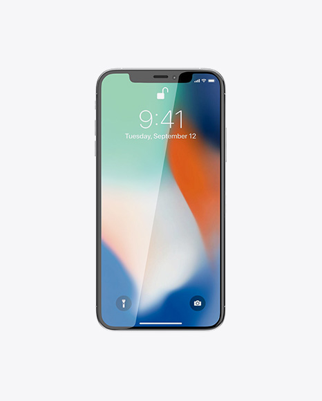 Apple iPhone X Mockup - Front View
