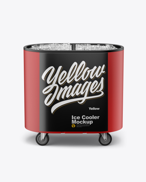 Outdoor Ice Cooler Mockup - Front View (High-Angle Shot)