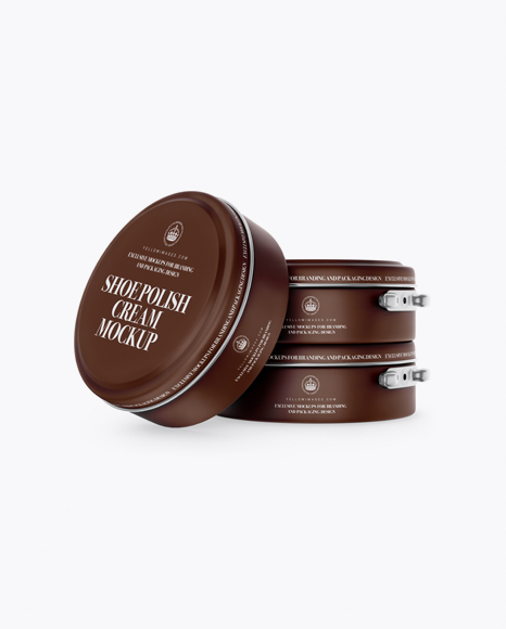 Matte Shoe Polish Cream Jars Mockup