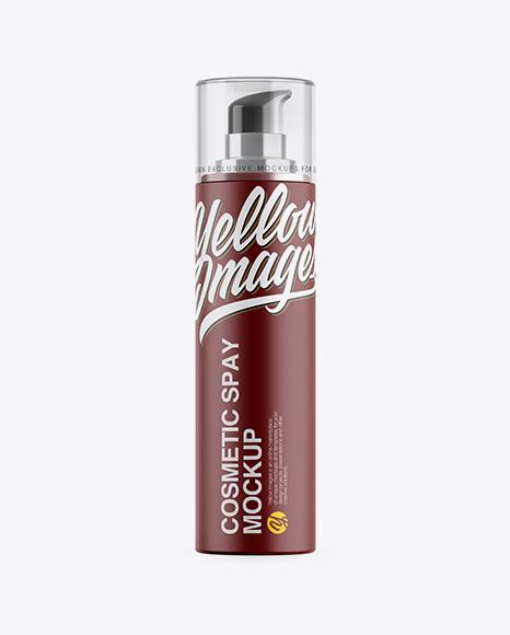Matte Cosmetic Bottle w/ Pump Mockup