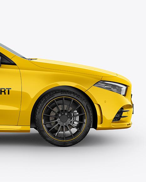 Hatchback 5-doors Mockup - Side View