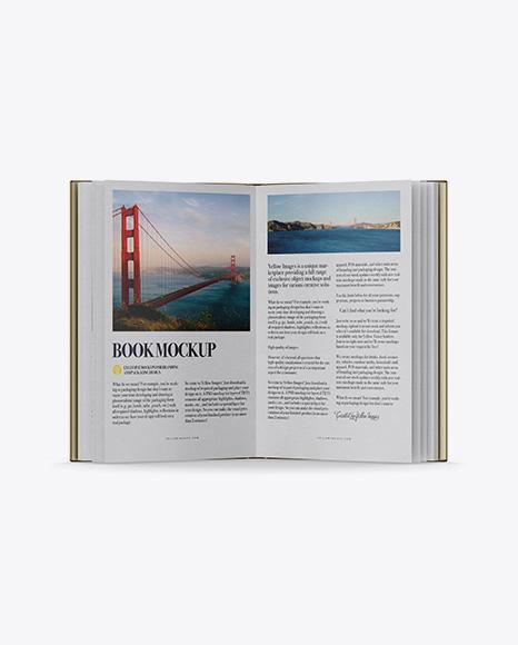Opened Book W/ Metallic Cover Mockup