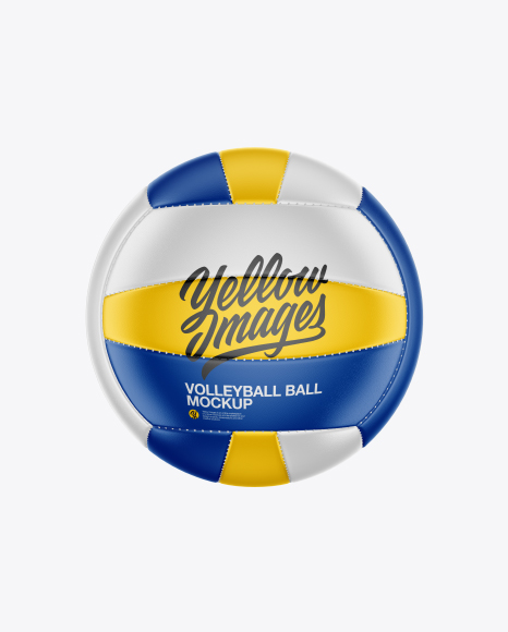 Volleyball Ball Mockup - Front View